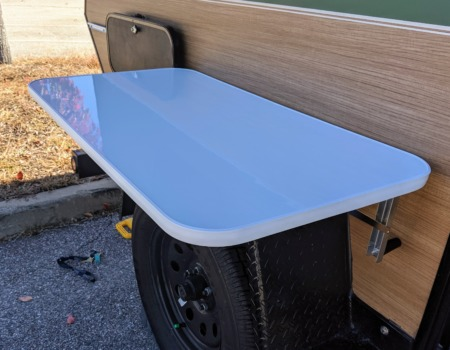 Side table for teardrop camper