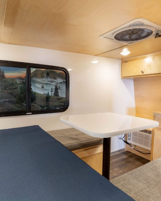 Kodiak show in dinette mode with optional standard trim package